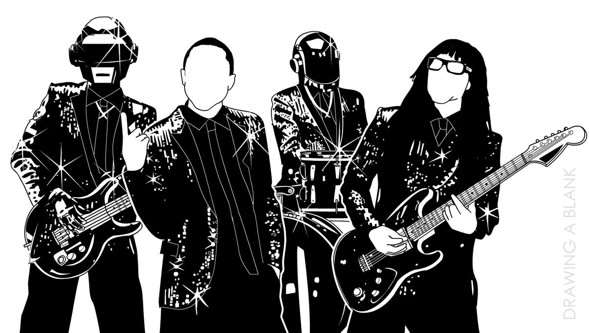 Drawing a blank grarg media for Daft punk mural